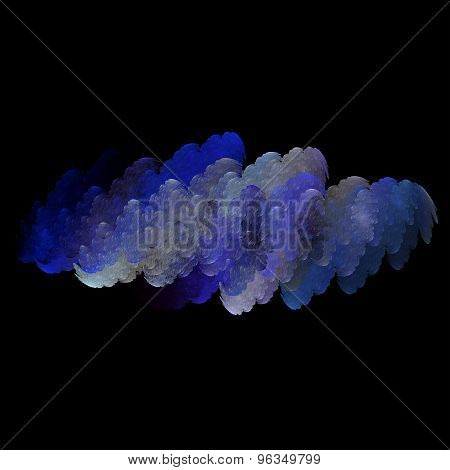 Abstract fractal wave clouds background