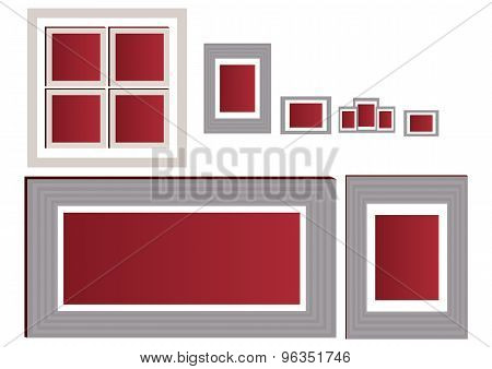 Empty photo frame collection with many size - EPS format available.