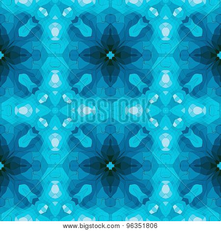 Seamless Mosaic Pattern In Blue