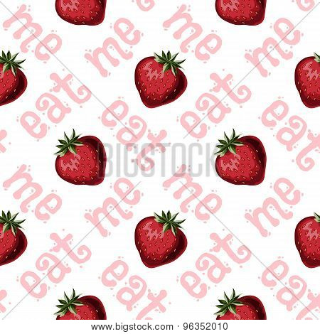 Strawberries Seamless Pattern