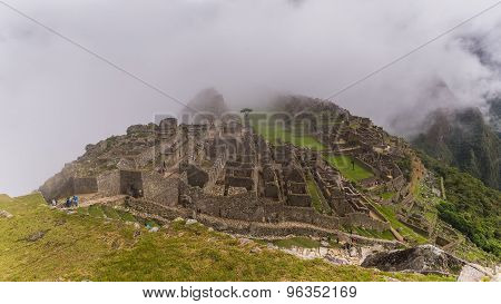 The Famous Inca Ruins Of Machu Picchu In Peru