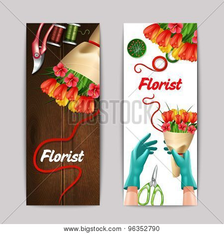 Florist Color Banner Set