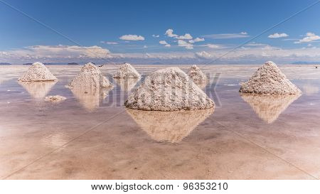Uyuni Salt Lake in South West Bolivia