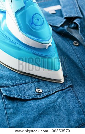 Ironing Denim Shirt