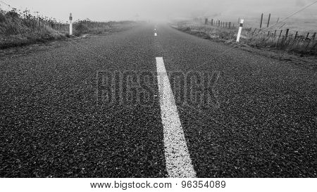 A Road Ending In Mystic Fog Leaving The Watcher With A Feeling Of Uncertainty