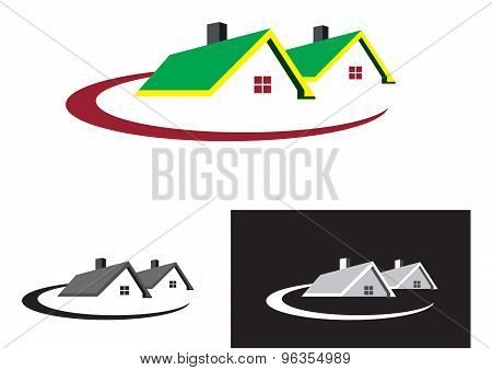 Real estate houses logo  - EPS format available.