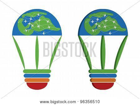 Idea World Travel business Logo
