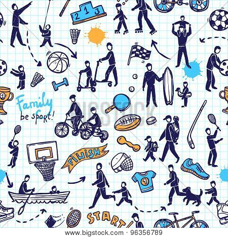 Physical Activity Seamless Pattern