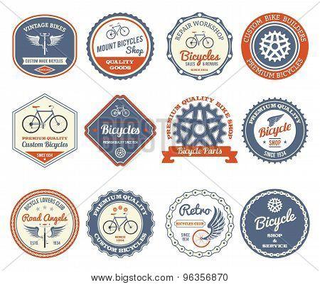 Cycling Emblems Set