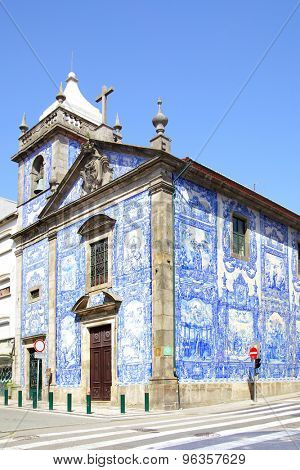 Old chapel of Souls in Porto