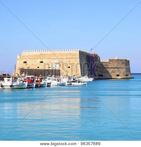 Venetian Fortress in Heraklion, Crete Island, Greece