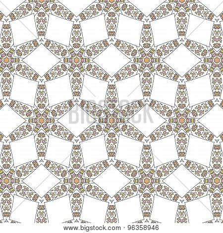 Primitive Simple Retro Seamless Pattern Mosaic