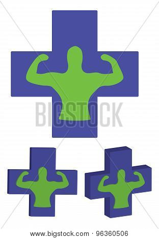 Human body health care isolate on white background