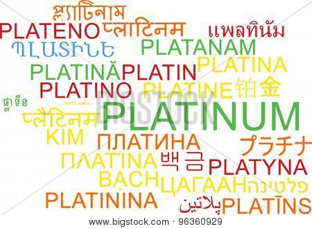 Background concept wordcloud multilanguage international many language illustration of platinum