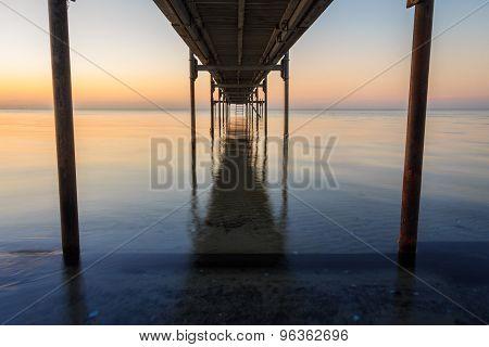 Under Jetty Sunrise