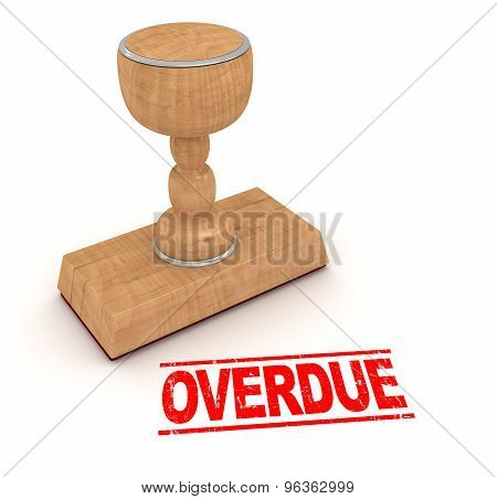 Rubber Stamp - Overdue