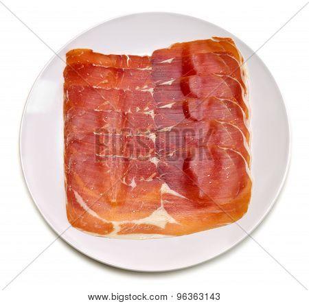 Apetitnye Slices Of Jamon.