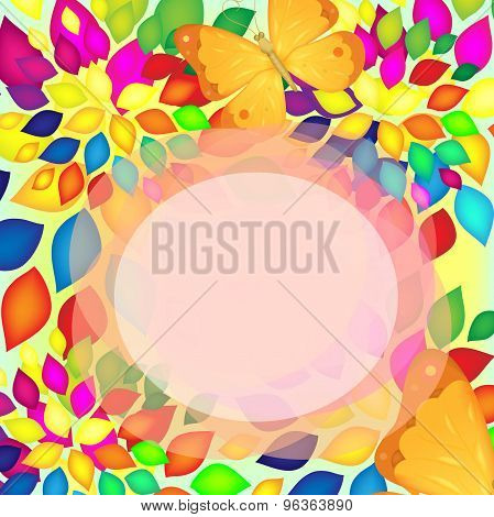 Abstract Banner With Butterfly