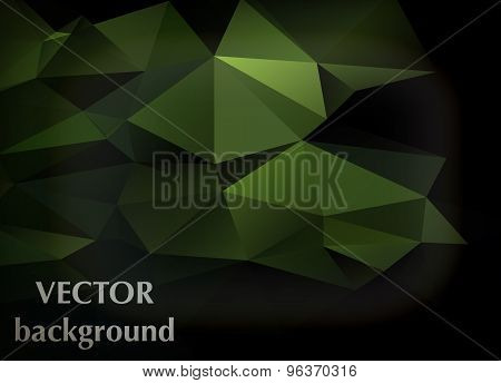 Abstract Vector Background Of Triangles Polygon Wallpaper. Web Design, Bright Colors