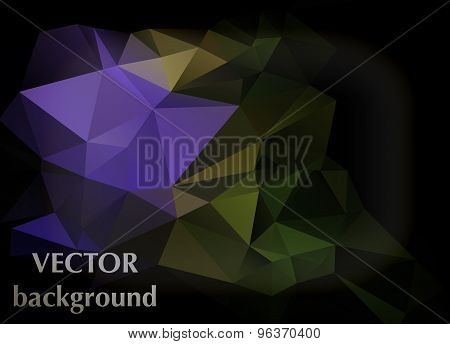 Abstract Vector Background Of Triangles Polygon Wallpaper. Web Design Bright