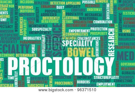 Proctology or Proctologist Medical Field Specialty As Art