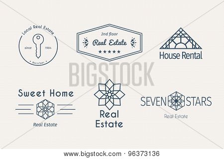Vector asian logo templates