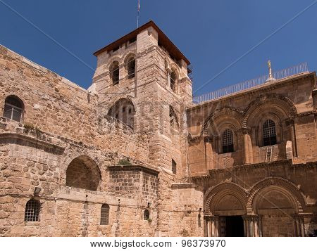 The Entrance To The Church Of The Holy Sepulchre.  Jerusalem,