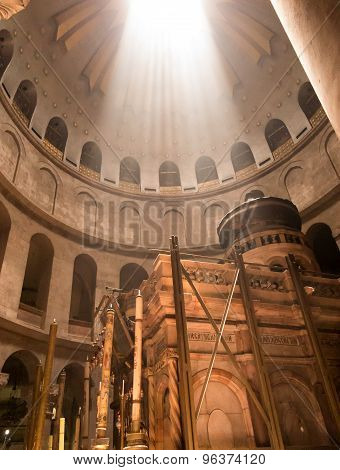 Jerusalem - July 15: Greek Chapel Of The Church Of Holy Sepulchre In Jerusalem,