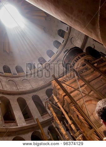 Jerusalem - July 15: Greek Chapel Of The Church Of Holy Sepulchre In Jerusalem,