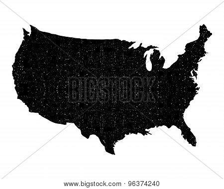 Us Map Vintage