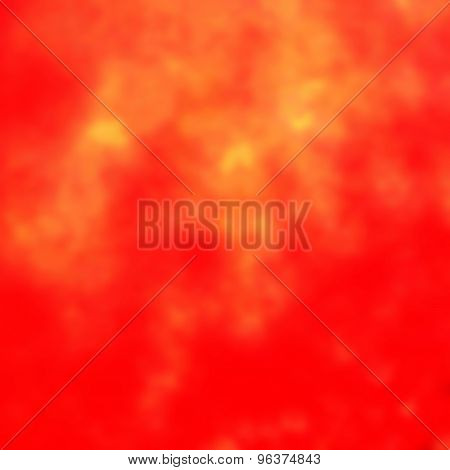Abstract Red  Background With Yellow Splashes. Autumn Colors