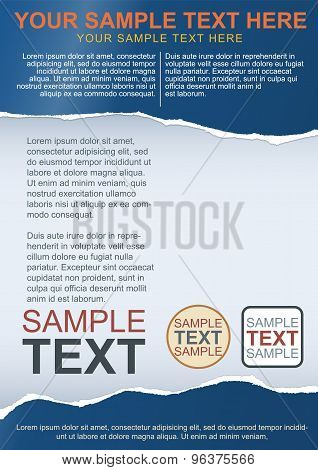 Flayer, Brochure Or Cover Template