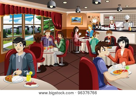Business People Having Lunch Together