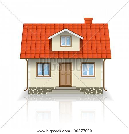 House Icon Isolated on white background. Illustration.