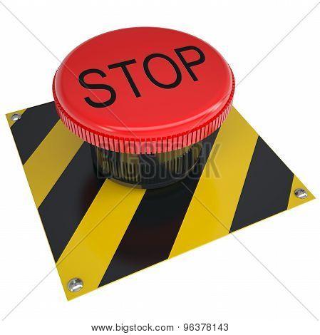Push button stop on white