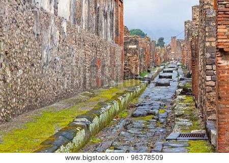 Ancient Roman City Of Pompei, Italy