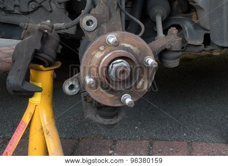 Wheel Hub - Brake Disk And Caliper Removed