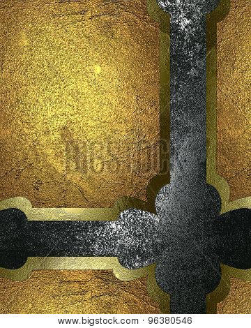 Abstract Background With Gold Plate. Element For Design. Template For Design. Abstract Grunge Backgr