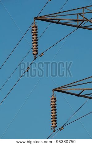 electricity pylon insulators and arms
