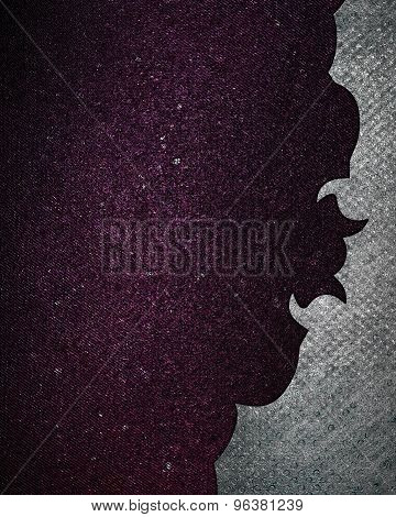 Purple Texture With A Grunge Metal Border. Element For Design. Template For Design. Abstract Grunge