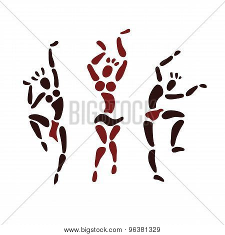 Figures of African dancers.
