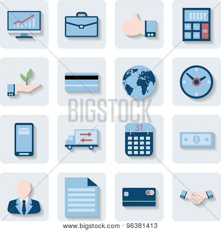 Finance and Business Icons. Modern Web Collection Isolated on white background. Illustration. Vector EPS10.
