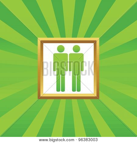 Two men picture icon