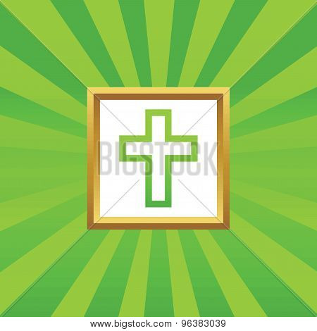 Christian cross picture icon