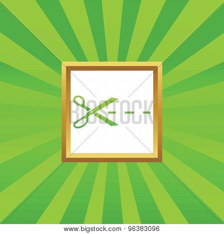 Cut picture icon