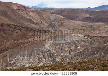 Intricate Rock Formations on the Chilean Altiplano