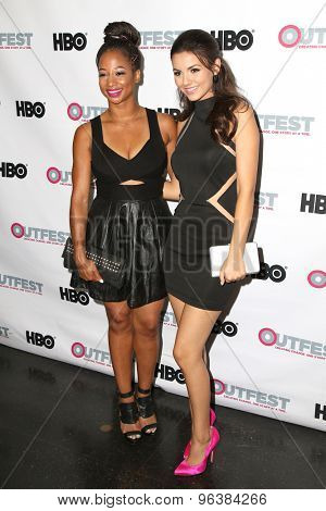 LOS ANGELES - JUL 17:  Monique Coleman, Victoria Justice at the