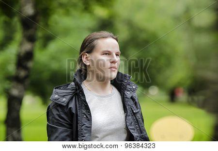 Man Walks In The Summer