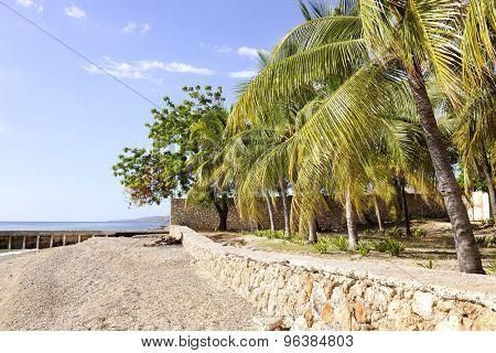A remote tropical beach in Haiti.