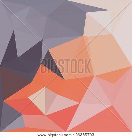 Atomic Tangerine Orange Abstract Low Polygon Background